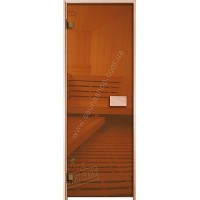 Двери для саун VALTE bronza 700x1900 ПЕТЛИ ХРОМ - Новинка