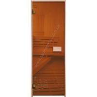 Двери для саун VALTE bronza 700x2000 фурнитура ХРОМ