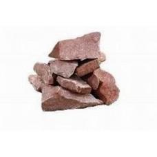 Камни для печи - малиновый кварцит колотый, 20кг Украина